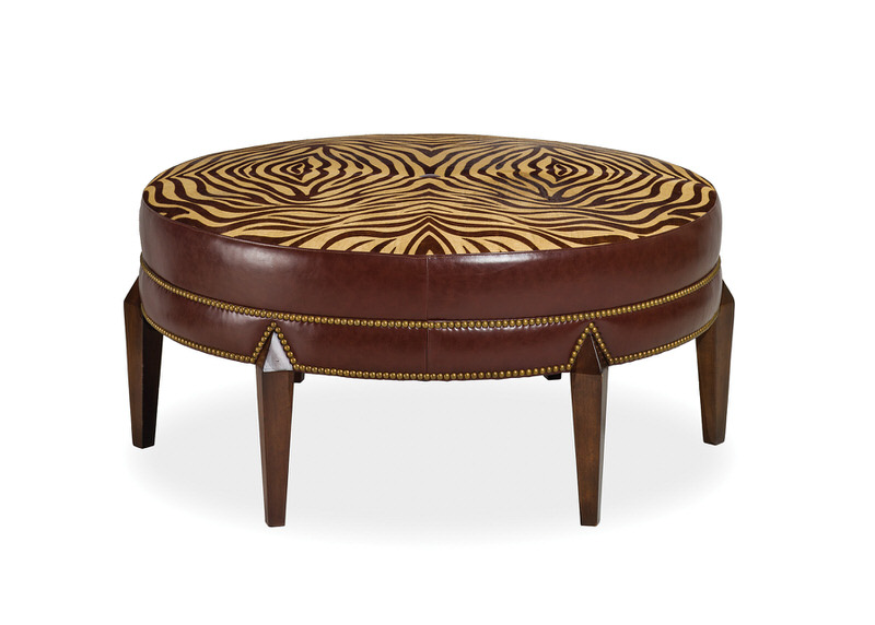 Hancock and Moore Greta Tight Top Ottoman 6338