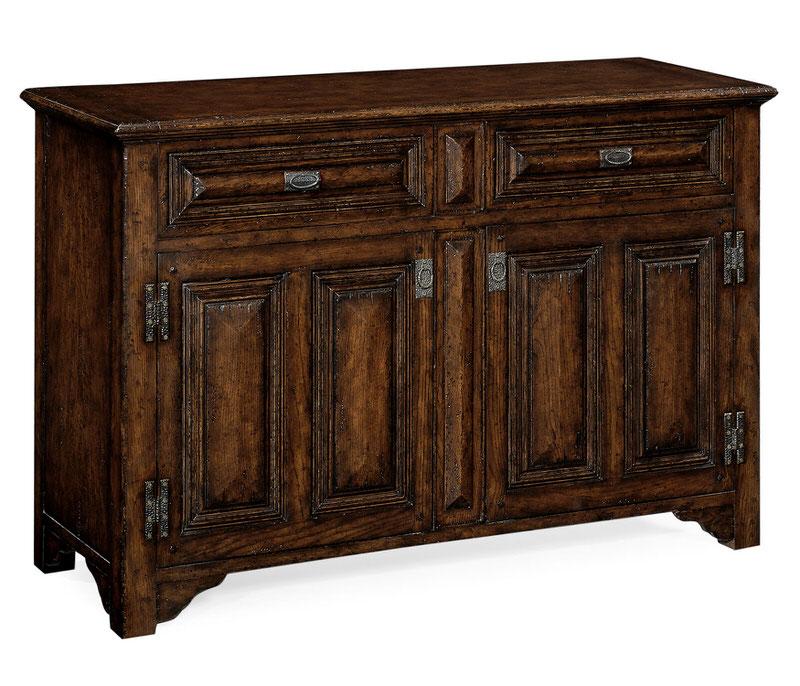 "Jonathan Charles ""Tudorbethan"" Dark Oak Side Cabinet 493560"